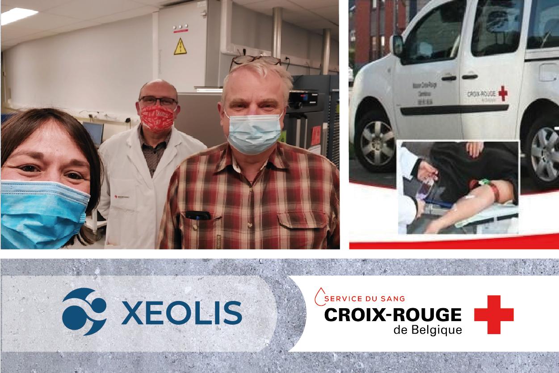XEOLIS au service de la logistique du Service du sang de la Croix-Rouge de Belgique